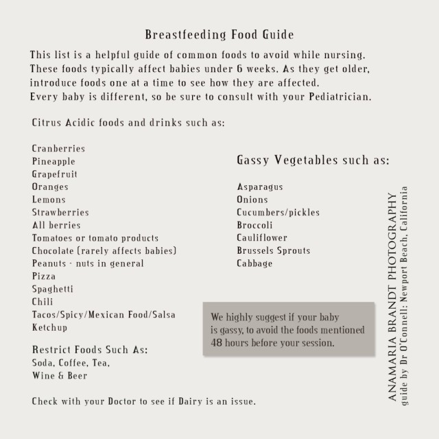 breastfeeding food guide